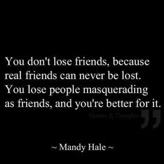 A shout out to my real friends!