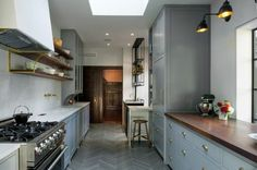 A Chic, Modern Kitchen with a Nod to the Past