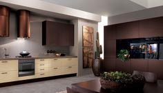 Combinación de distintos tonos marrones para un resultado espectacular, www.lovikcocinamoderna.com muebles de cocinas en Madrid con una excelente relación calidad precio