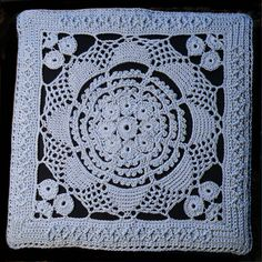 CB+Crochet+Square...The Old Cartier and Bresson crochet square. This pattern was created from an old square wood cut. Thanks s.o.o,for sharing!!