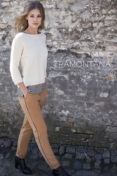 #Tramontana chino broek met glitter sierrand #fashion #colortrends #trends #pantone #warmTaupe #taupe #shadeofbrown