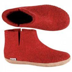 62886213747 Glerups Danish Boots - Dark Red Felted Wool ...