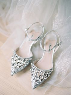 The prettiest silver and jewel Miu Miu bridal shoes Photography: Taylor & Porter Silver Wedding Shoes, Wedding Boots, Best Bridal Shoes, Miu Miu Shoes, Prom Heels, Bride Shoes, Party Shoes, Manolo Blahnik, Pump Shoes