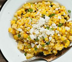 No-Fuss 3-Ingredient Sides: Try this Charred Corn with Scallions and Feta for an easy way to make roasted vegetables taste (and look) even more delicious!