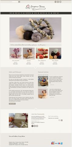 Gorgeous Yarns Home Page - Web designer Cornwall