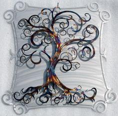Metal Tree Art Curly Tree by HumdingerDesignsEtsy on Etsy