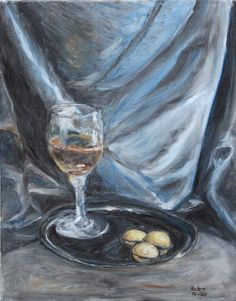 Still life by Mike Halem Oil on canvas size 16 X 20 Inches 2011