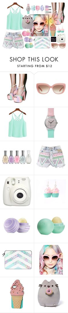"""""""Whimsical"""" by codilocks ❤ liked on Polyvore featuring Sugarbaby, Kate Spade, Sally Hansen, Boohoo, Fujifilm, Eos, Casetify, Crap, Polaroid and Gund"""