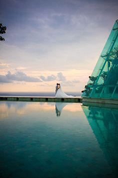 It was taken in Tirtha Bridal Uluwatu BaliOne of very wellknown wedding venue in Bali