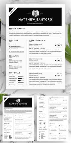 Simple Creative Resume Design