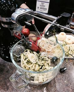The new spiral attachment from Kitchen Aid coming out soon as seen at the recent Home & Housewares Show! - The Culinary Cellar