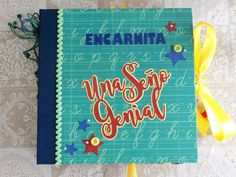 Heli Papeles ♥ Scrapbook Albums, Scrapbooking, Mini Albums, Cover, Books, Photo Books, Teacher Gifts, Teachers' Day, School