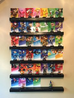 User shows us how he made his Amiibo wall display! Amiibo Display, Wii U, Super Mario, Nintendo Switch, Video Game Decor, Nintendo Amiibo, Future Games, Games Images, Crystals