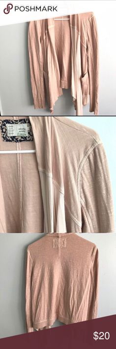 Anthro Saturday Sunday Knit Jacket Super cute and trendy blush color. Very comfy and the perfect throw-on layer! Anthropologie Jackets & Coats