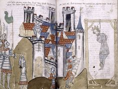 Medieval City--King being hanged Ger.1445 MA 104 NYPL