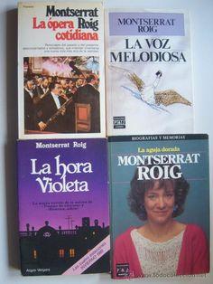 4 libros de Montserrat Roig: La aguja dorada, La voz melodiosa, La hora violeta y La ópera cotidiana - Foto 1
