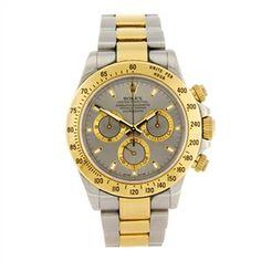 LOT:209   A bi-metal automatic chronograph gentleman's Rolex Cosmograph Daytona bracelet watch.