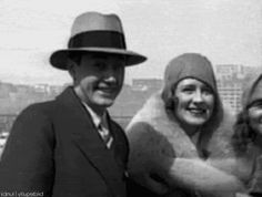 Irving Thalberg and Norma Shearer candid home video