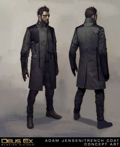Adam Jensen's New Coat, Frédéric Bennett on ArtStation at https://www.artstation.com/artwork/adam-jensen-s-new-coat