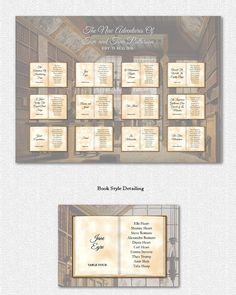 The perfect seating chart for a book themed or literary themed wedding. Would work really well too for a vintage feel!