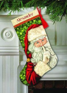 Dimensions Crafts 70-08938 Needlecraft Secret Santa Stocking in Counted Cross Stitch