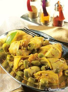 Recette Poulet au safran, coriandre et citron confit