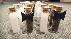Salt and pepper bride and groom guest presents - Photo by Bette Frost