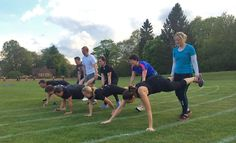 Wheelbarrow Races at our Boot Camp session!