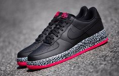 Nike Air Force 1 Low: Black & Elephant