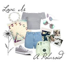 """""""Love Is A Polaroid"""" by x-fashion-x-fanatic-x ❤ liked on Polyvore featuring Polaroid, Ally Fashion, Converse, Polaroid Eyewear and Bling Jewelry"""