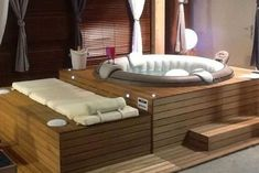 How do I dress my inflatable spa? Here are 10 dressing ideas for your . - How do I dress my inflatable spa? Here you will find 10 dressing ideas for your …, # - Jacuzzi Hot Tub, Jacuzzi Outdoor, Hot Tub Garden, Hot Tub Backyard, Whirlpool Deck, Piscina Diy, Hot Tub Surround, Luxury Pools, Small Pools