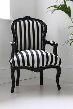 Hattie Black and White Striped Chair - modern - armchairs - - by Not on the High Street