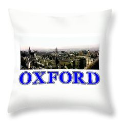 "Oxford snapshot Panorama Rooftops 2 jGibney The MUSEUM Zazzle Gifts Throw Pillow 14"" x 14"" by The MUSEUM Artist Series jGibney, jGibney The MUSEUM, gib, gibney, jgibney,Gibney, jGibney,  ---SEE EVERYTHING HERE--->>> http://themuseum.host56.com/themuseum.htm, http://www.zazzle.com/the_museum/products, http://www.zazzle.com/mbr/238948309450180796, http://www.zazzle.com/The_MUSEUM*, jGibney/The MUSEUM Zazzle Gifts <<<---"
