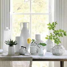 Need an inexpensive vase to throw on a shelf? Try this sleek vases from CB2 $14.95 for the eva vase.