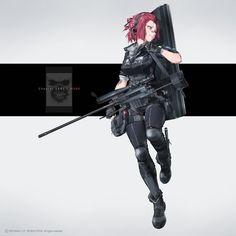 Guns, Planes, Ships and Tanks in Anime! Cool Anime Girl, Kawaii Anime Girl, Anime Art Girl, Fantasy Character Design, Character Concept, Character Art, Anime Military, Military Girl, Warrior Girl