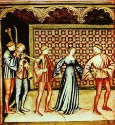 Tacuinum Sanitatis, La danza, XIV sec., Giovannino de' Grassi