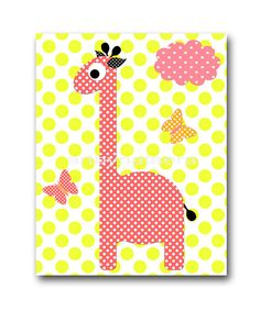 Giraffe Digital Art Print Digital Nursery Art by nataeradownload