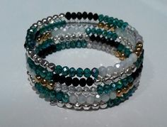 Turquoise,  black, white, silver, gold