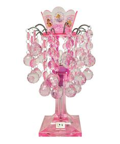 Take a look at this Pink Princess Chandelier Lamp by Disney on #zulily today!