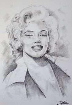 Marilyn-carboncino su carta 50x30