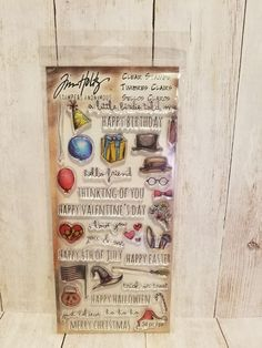 Tim Holtz Layering Stencils Numbered /& Arrow 2pc Stampers Anonymous
