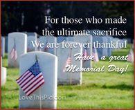 memorial day ultimate sacrifice