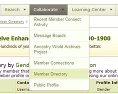 What is the Member Directory? - Ancestry.com