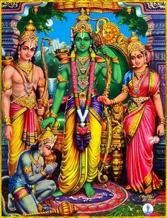 "☀ SITA RAM LAKSHMAN HANUMAN ॐ ☀ ""His transcendental acts are magnificent and gracious, and great learned sages like Narada sing of them. Please, therefore, speak to us, who are eager to hear about the..."