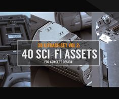 Kitbash Set Vol 40 Sci-Fi Assets by Jonathan Ching Vol 2, Cinema 4d, Zbrush, Sci Fi, Concept, Weapons, Objects, 3d, Design
