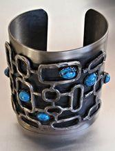 Vintage 60s Modernist Metal Cuff Bracelet  - Huge!