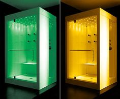 Bright Yellow and Green Lighting for Energetic Relaxation