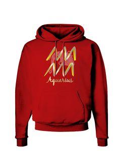 TooLoud Aquarius Symbol Dark Hoodie Sweatshirt