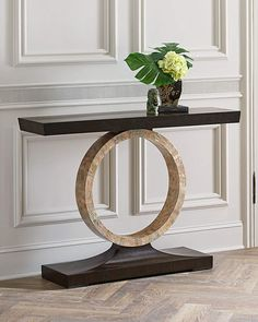 Shop Napree Circle Console Table from John-Richard Collection at Horchow, where you'll find new lower shipping on hundreds of home furnishings and gifts. Living Room Cabinets, Living Room Furniture, Home Furniture, Living Room Decor, Furniture Design, Entryway Decor, Wall Decor, Home And Deco, Metal Walls