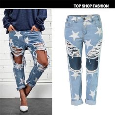 51.72$  Watch here - Boyfriend Loose Ripped Jeans Fall Fashion Loose Ripped Denim Jeans Woman Beautiful Harem Jeans For Ladies Hole TSL014#  #buyonline